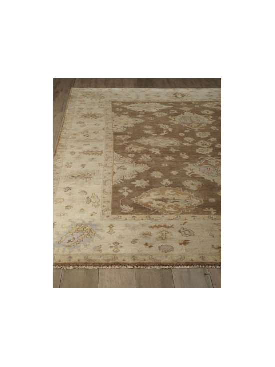 "Exquisite Rugs - Exquisite Rugs ""Juniper"" Oushak Rug - Antique-style weaving meets modern sensibilities in this handmade Oushak rug that combines a neutral ground with highlights of olive and periwinkle, making it the perfect choice for any decorating style. Durable and intended for foot traffic. Hand knot..."