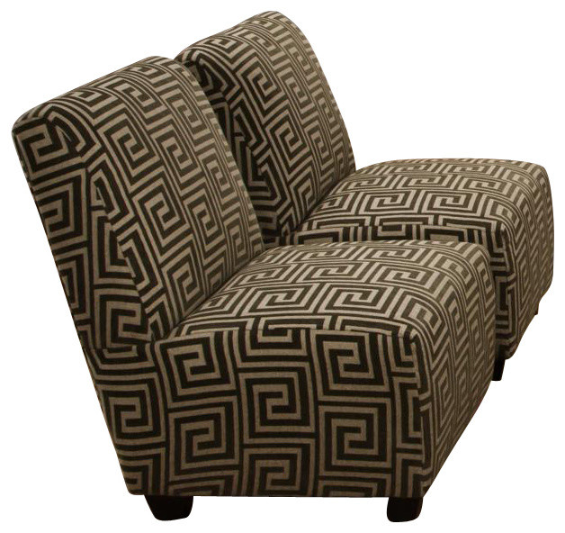Armless accent chair by chelsea home furniture contemporary chairs