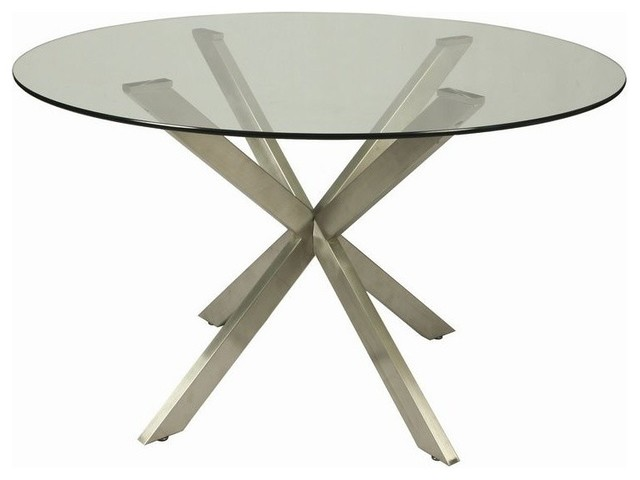 Round Glass Dining Table 48 Inches: Pastel Furniture Eritrea 48 Inch Round Table W/ Glass Top