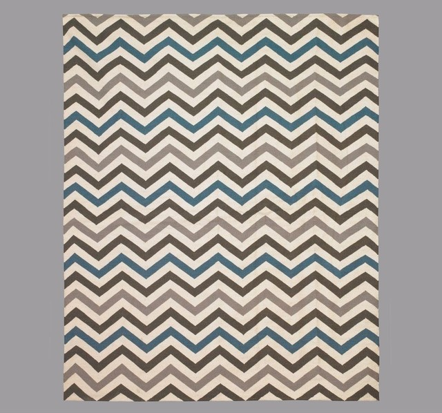 dwell studio zig zag lapis rug traditional rugs by