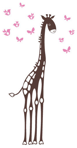 Surface Collective - Yes, Mr. Giraffe Wall Tattoo modern-wall-decals