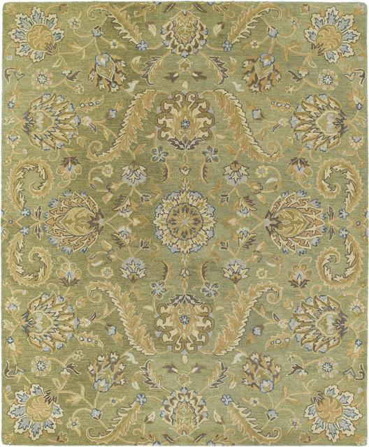 Kaleen Helena Virgil 2' x 3' Green Rug contemporary-rugs