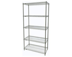 Metro Shelving Unit - 48x14x74 Chrome industrial-garage-and-tool-storage