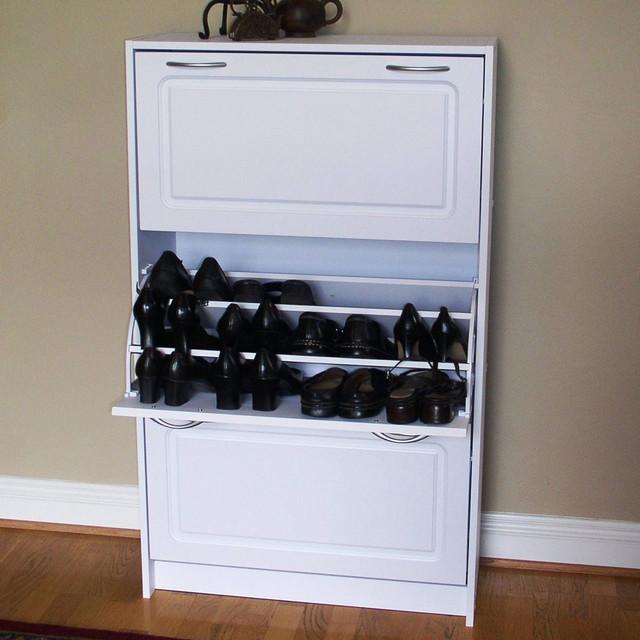 Deluxe Triple Shoe Cabinet modern-closet-storage