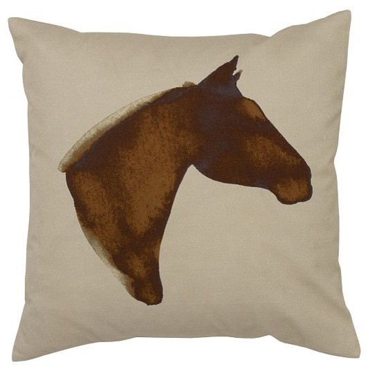 Scott Lifshutz Horse Pillow Cover traditional-decorative-pillows