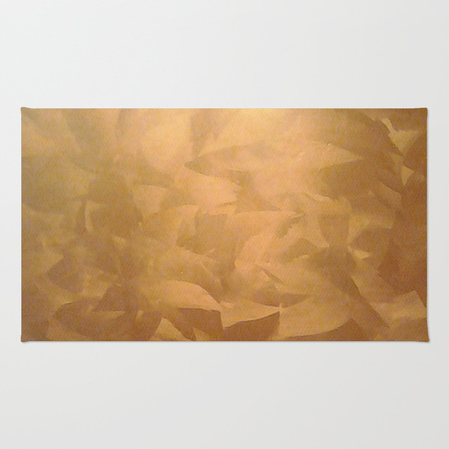Brushed Copper Metallic Rug - Contemporary - Area Rugs - other metro ...