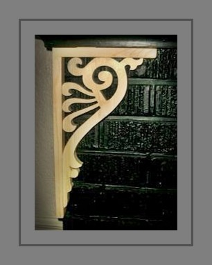 Hand Cut and Very Affordable Victorian Wood Corner Brackets traditional-brackets