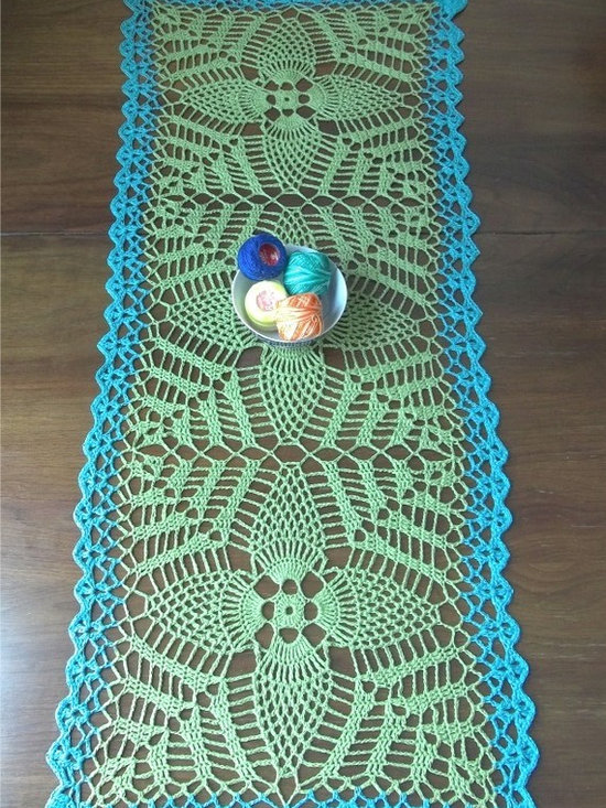 Hemp Blend Table Runner by Fuzzy Lumpkin Crochet -