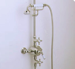 Hampstead Exposed Shower System Traditional Bathroom