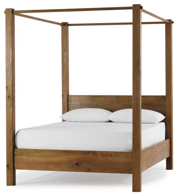 Vintage Fir Canopy Bed traditional-beds