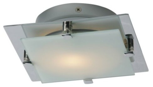 Piccolo Square Flushmount With Square Glass by ET2 Lighting modern-chandeliers