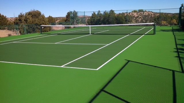 backyard tennis court southwestern