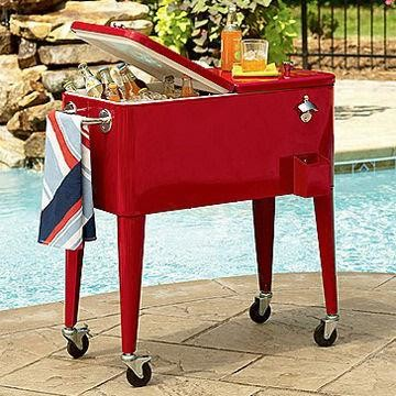 Rolling Outdoor Cooler Cart - Modern - Coolers And Ice Chests - other metro - by Global Sources
