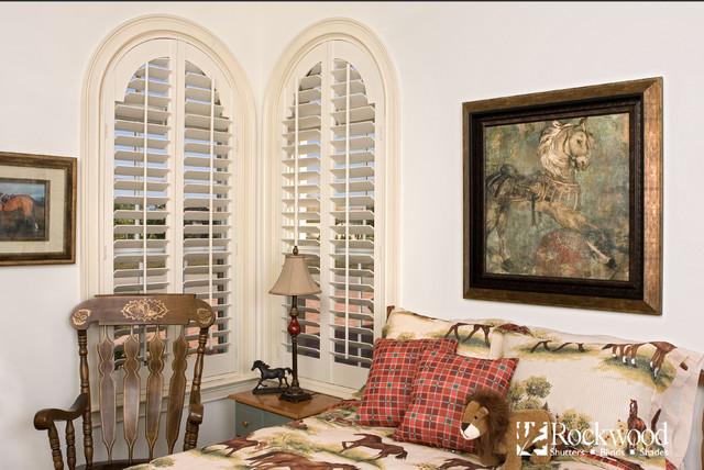 Plantation Shutters Arch Window Shutters Traditional