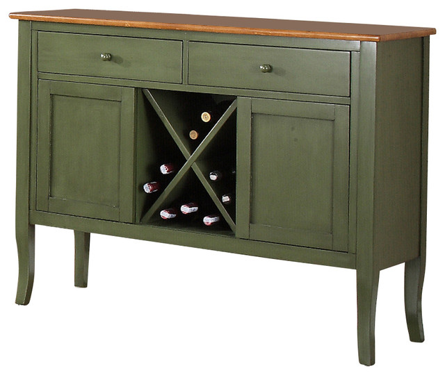 Steve Silver Candice Server in Oak and Green - Transitional - Buffets And Sideboards - by ...