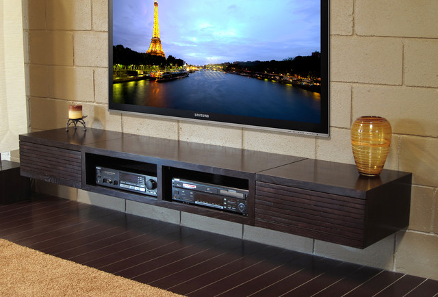 Wall Mounted Entertainment Center Mayan Espresso