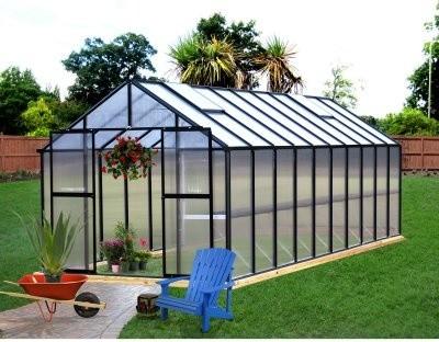Riverstone Industries Monticello 8 x 20 ft. Premium Greenhouse Kit modern-greenhouses