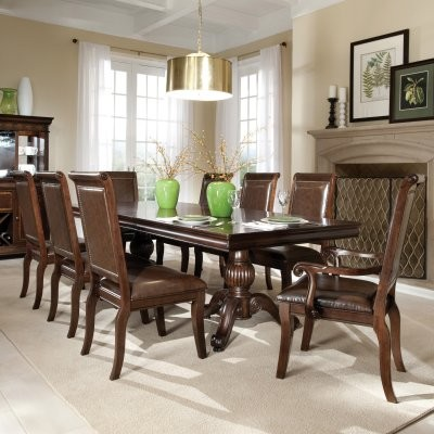 Standard Furniture Embasy 9 Piece Double Pedestal Dining Table Set modern-dining-tables