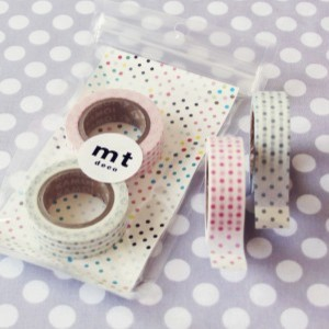 Pink and Gray Dots Tape Duo traditional accessories and decor