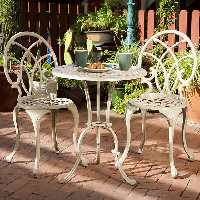 Christopher Knight Home Anacapa Aluminum f white Bistro