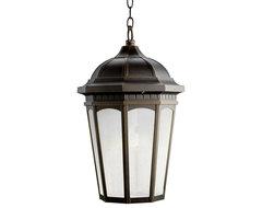 Kichler Lighting 11016RZ Courtyard Bronze Outdoor Hanging Lantern traditional-outdoor-lighting