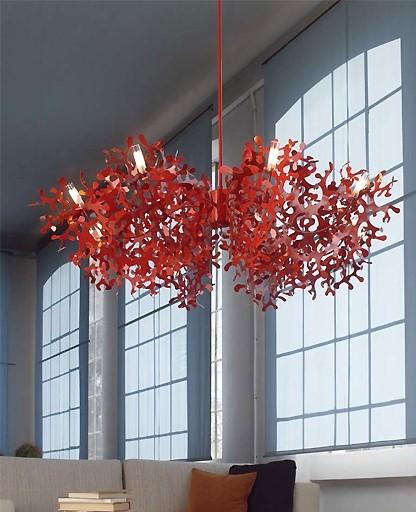 Lumen Center Italia - Super Coral 8L chandelier modern-chandeliers
