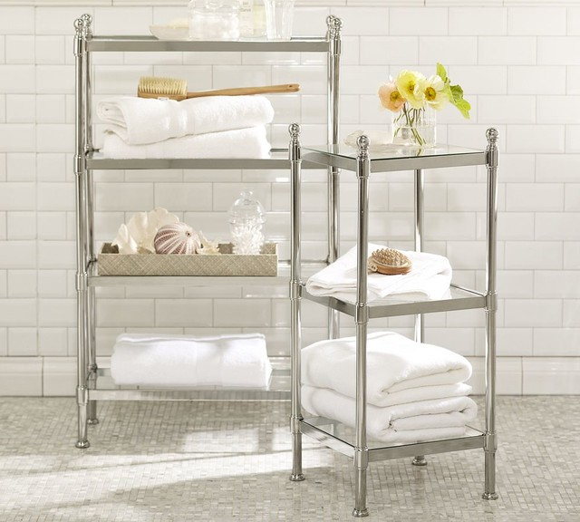 Metal Etagere Traditional Bathroom Cabinets And Shelves By Pottery Barn