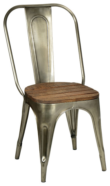 metal and wood chair industrial dining chairs other metro by