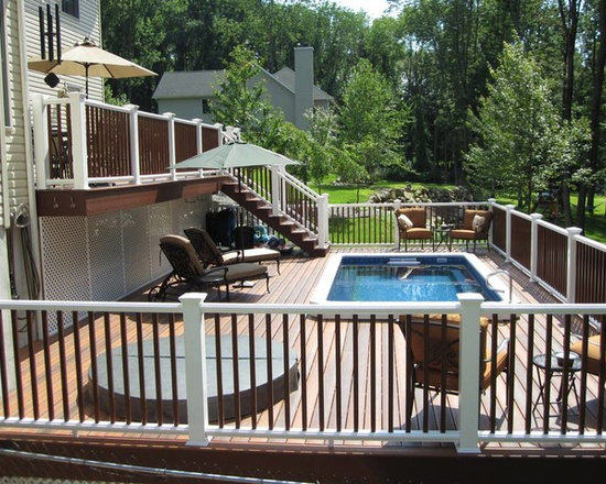 Endless Pools - Original Endless Pools®, Deck Pool, Backyard Swimming Pool - This Endless Pool was skillfully integrated into an amazing two-tier deck.