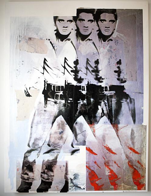 Elvis shooting gun contemporary-artwork