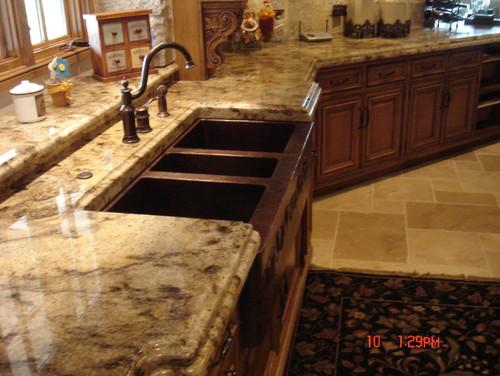 Photos of granite countertops with oak cabinets cabinet for Kitchen granite countertops colors
