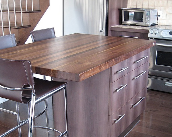 Solid Black Countertops : countertops - Solid Black walnut 2?