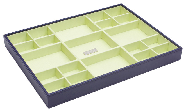 Stackables Large Standard Tray, Purple modern-cabinet-and-drawer-organizers