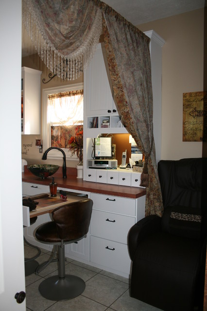 Home Based Nail Salon Business Traditional Home Office
