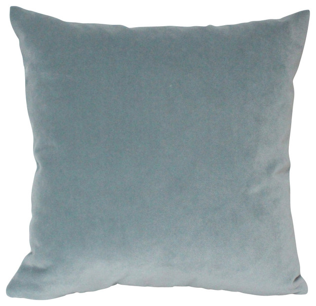 Velvet Pillow Cover, Slate Blue - Contemporary - Decorative Pillows - by The Pillow Studio