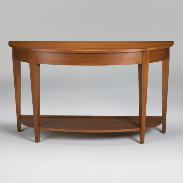american artisan laurie demilune sofa table traditional side tables and accent tables