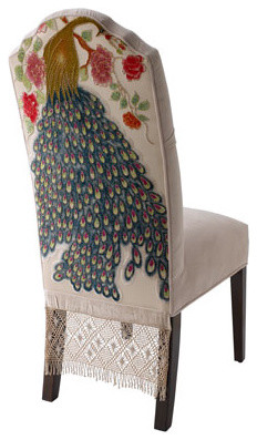 Haute House Two Peacock Dining Chairs traditional-dining-chairs