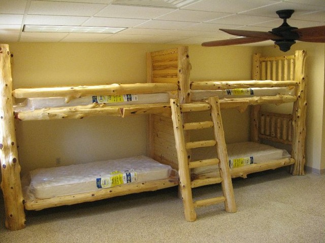 Quad bunks st louis by carolina logcrafter
