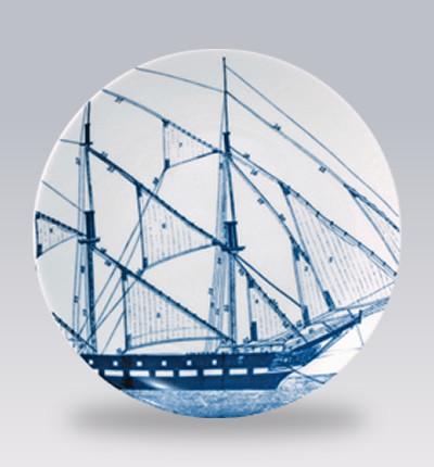 Rigging Blue Canape Plates contemporary-serveware