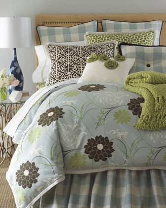 French Laundry Home Buffy Bed Linens King Brown Scroll Sham traditional-pillowcases-and-shams