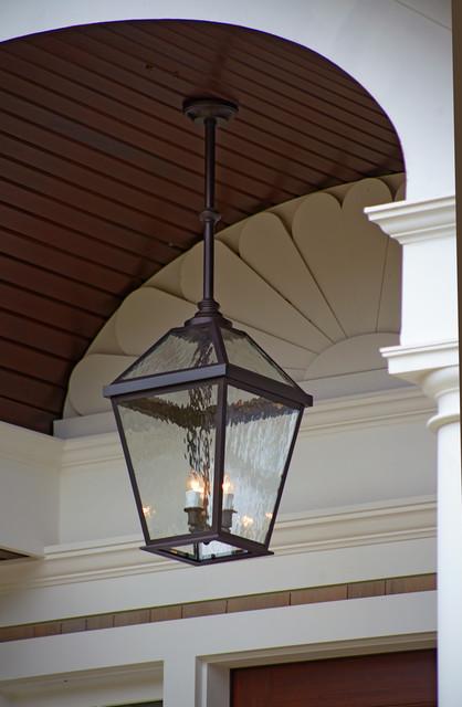 London Lantern Porch Light Close Up Traditional