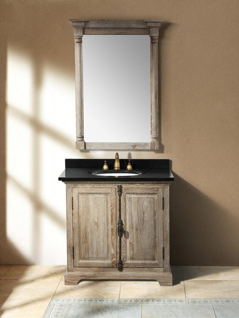35 5 alvito single bath vanity driftwood transitional bathroom vanities and sink consoles for Single sink consoles bathroom