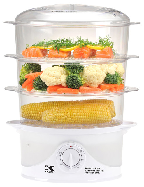 Multi-level Food Steamer contemporary-small-kitchen-appliances