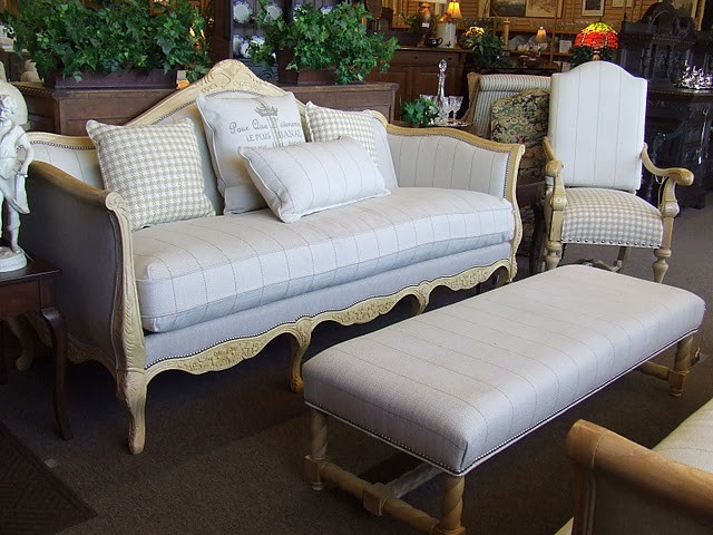 Fabulous Designer French Laundry Print Sofa by Southern eclectic-sofas