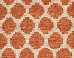 Feza Red Orange Rug rugs