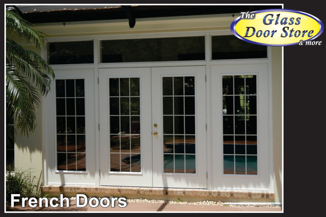 French doors to replace sliding glass doors traditional for Sliding glass door to french door