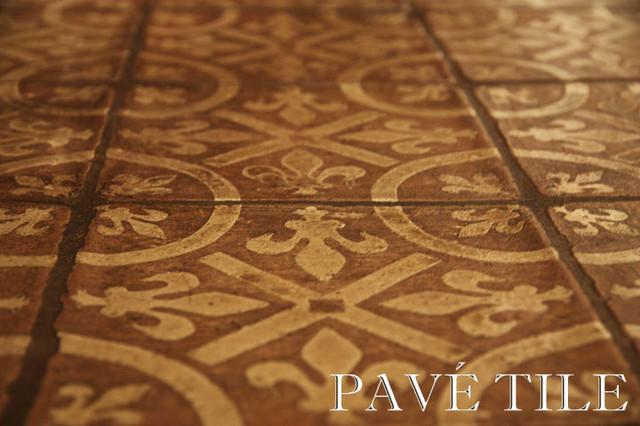 Montmartre Encaustic Terra Cotta Tile Flooring eclectic-floor-tiles