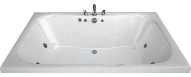 Atlantis Tubs 4060NWL Neptune 40x60x23 Rectangular Whirlpool Jetted Bathtub traditional-bathtubs