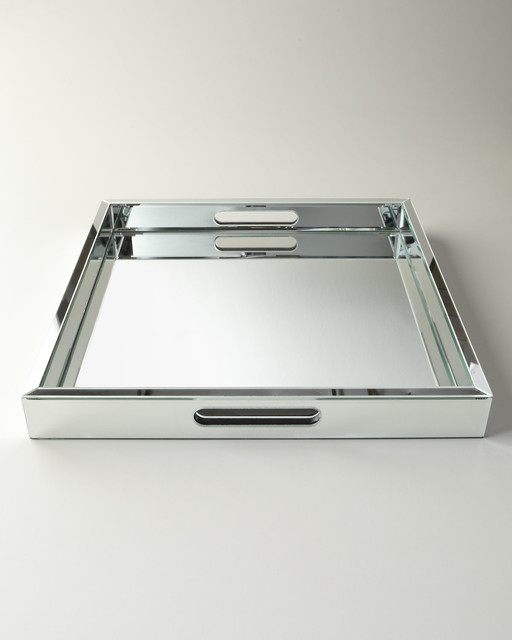 Regina Andrew Design Large Mirrored Tray Traditional