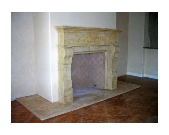 Mandeville Cast Stone Fireplace Mantel -